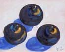 Trio of Black Plums