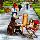 Art in the Park - Basset Hound Dog Painting