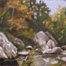 'Rocks Along A Stream'