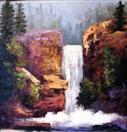 Palette Knife Waterfall  oils