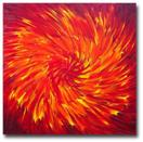 'Crimson Vortex' - 24x24 inches - Oil on canvas