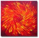 'Crimson Vortex' - 24x24 inches - Oil on canvas