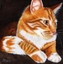 Kiki - Ginger Tabby Cat Painting