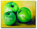 Commissioned Oil Painting - 'Green Apples'- 16x20 inches - LaGasse