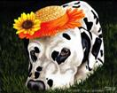 Sun Spot - Dalmatian Dog Art Painting
