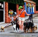 The Dog Walker - Dog Art Painting