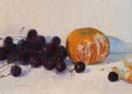 grapes and tangerine 5x7 in.
