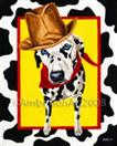 Get Along Little Doggie - Dalmatian Art