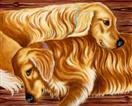 Devoted Companions - Golden Retriever Dog Art