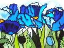 The Himalayan Blues, painting on glass