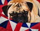 Snug Pug - Cozy Dog in Quilt