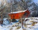 'Covered Bridge at Pittsford, VT' 16x20, oil on canvas, framed