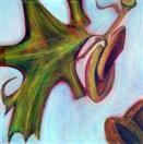 Acorn & Leaf, 36 x 36, acrylic