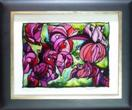 'Bougainvillea, Baby!' by Karla Nolan, framed glass painting