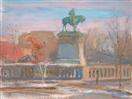 Valley Forge Monument in Winter