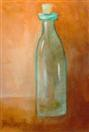 Tall Green Bottle no 4 oil painting