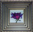 'A Lavender Rose' by Karla Nolan, framed painting on glass