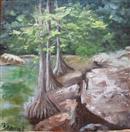 McKinney Falls #8 miniature oil painting
