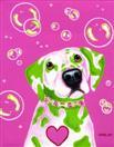 Bubble Love - Dalmatian Art