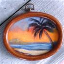 Tropical Palm miniature oil painting by Barbara Haviland