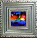 'Sweet Sunset' by Karla Nolan, framed painting on glass