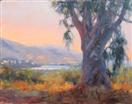 California Eucalyptus tree plein air by BECKY JOY