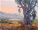 California Eucalyptus tree plein air by BECKY JOY