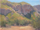 Rock Formation plein air painting by BECKY JOY