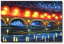 'Illuminated Bridge' - Impressionist Art by AJ LaGasse