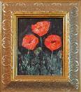 'Poppy Sweet' by Karla Nolan, palette knife oil painting