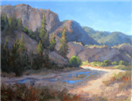 Mountain wash oil painting by BECKY JOY