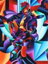 Daily Painters Blog - Anamorphosis - Abstract Futurism - A Painting a Day - Original Oil and Acrylic