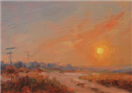 sunset impressionist oil painting study by BECKY JOY