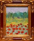 'Poppy Painting #7' by Karla Nolan, palette knife oil painting, framed