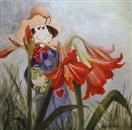 Barbsgarden-Amaryllis  oil painting