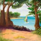 Daily Painters Blog - Windsurfer in Kauai - Original Oil and Acrylic Artwork by Northern California