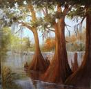 Cow Bayou landscape oils Barbara Haviland