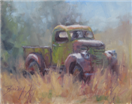 Antique truck plein air painting by BECKY JOY