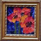 A Red Poppy Painting  (#1) by Karla Nolan, palette knife oil painting on canvas