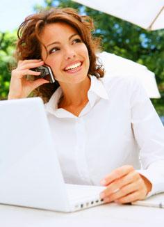 Satisfied Customer- Testimonial, woman online